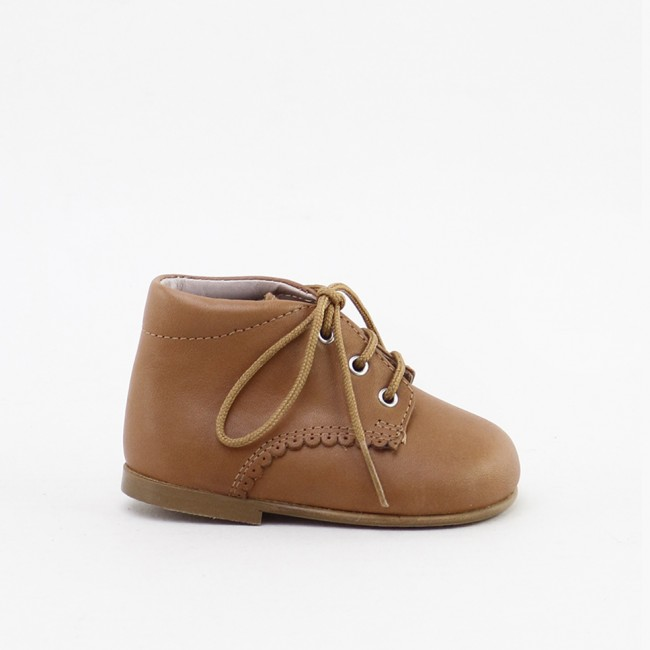 SCALLOPED CUOIO BOOTIE