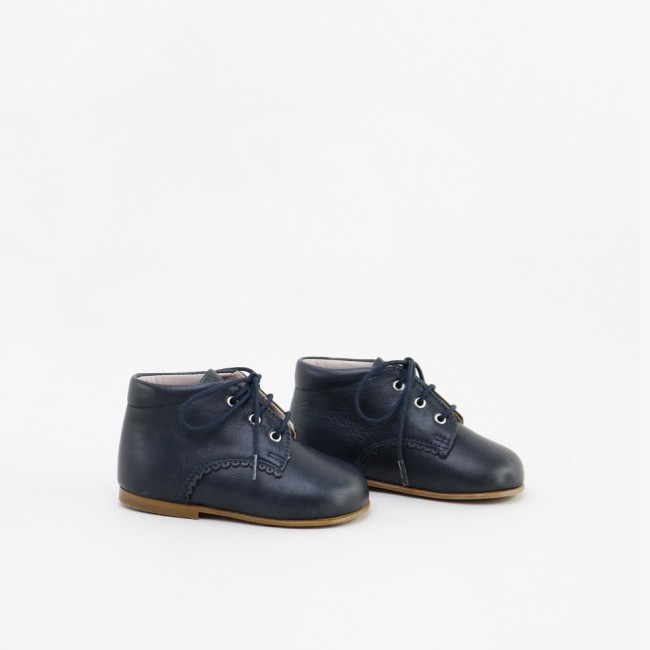 SCALLOPED BLUE BOOTIE
