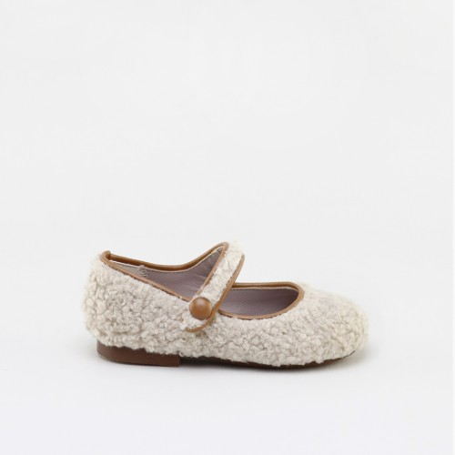 BEIGE TEDDY MARY-JANES