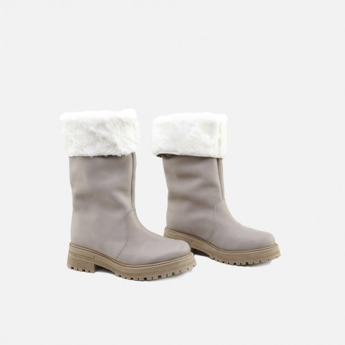 TAUPE STRAIGHT BOOTS