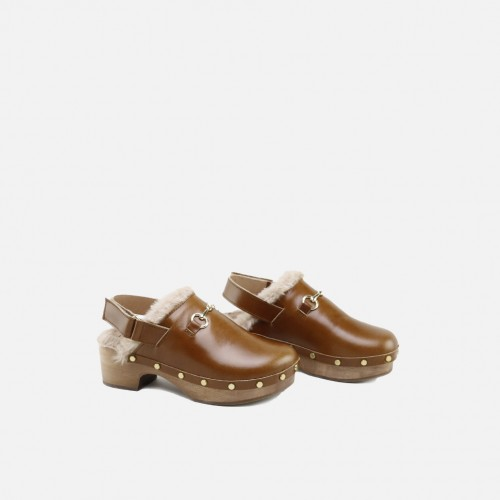CUOIO LEATHER CLOG