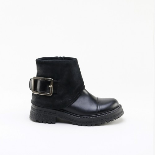 BUCKLE BLACK LEATHER
