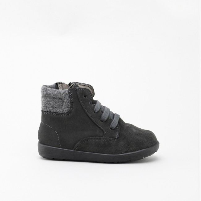 LACES GREY BOOT