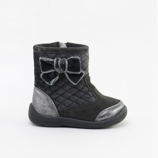 GREY BOW BOOTIE