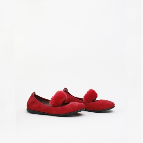 RED FUR BALLERINA