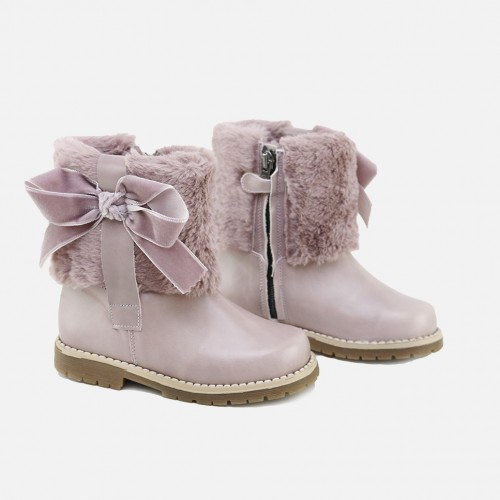 OLD PINK BOW BOOT