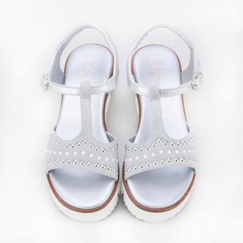 Sandalia perlas y brillantes 8708Y