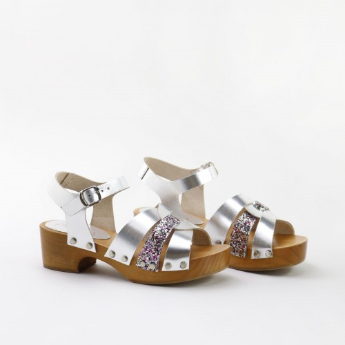 Sandalia zueco tiras 0227AA