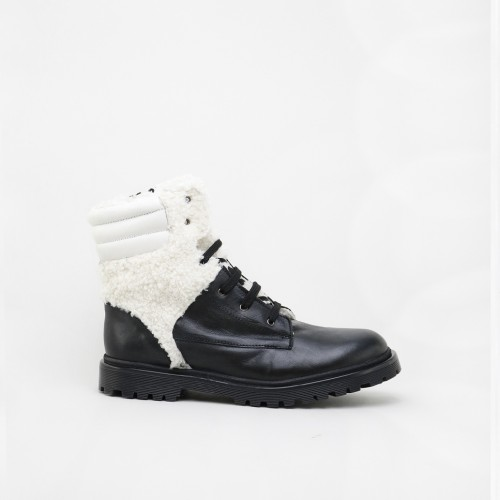 Military style boot with a...