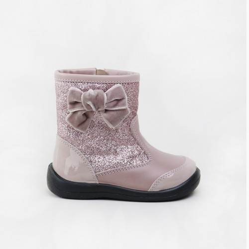 Boot with a velvet bow