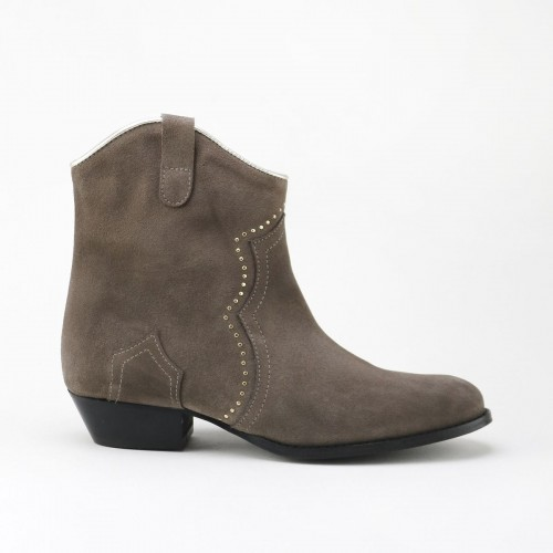 Studs Cowboy Ankle Boot
