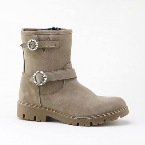 Jewel buckles ankle boot 4077Z