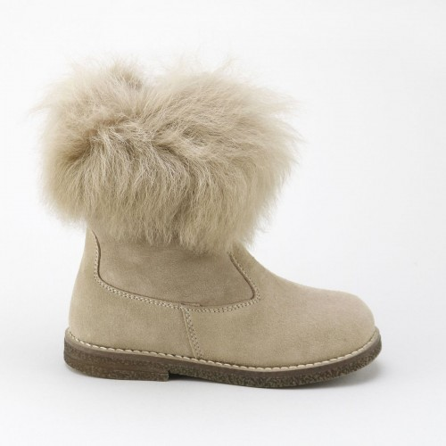 Fur leg Boot