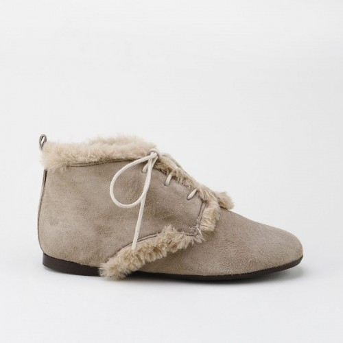 Raw fur Bootie