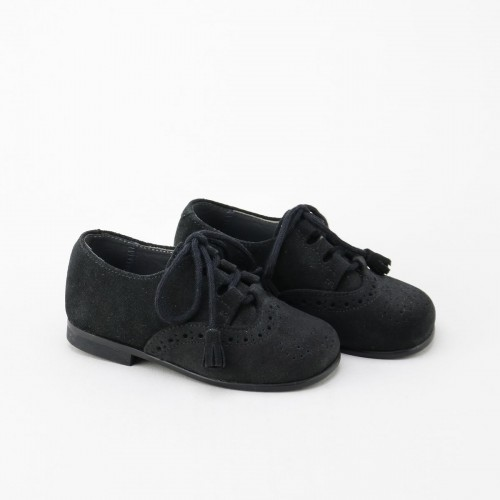 Zapato ingles serraje negro