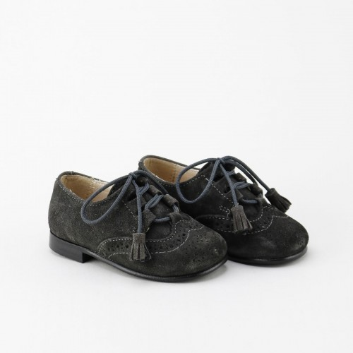 Zapato ingles serraje gris...