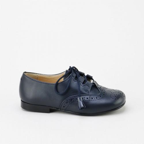 Zapato ingles piel marino