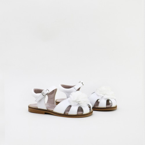 Nappa Sandals with a flower