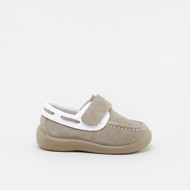 Zapato nautico Serraje Piedra