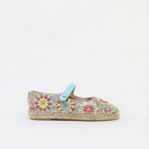 Espadrilles Flowers Mary Janes