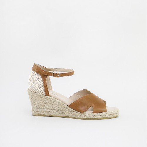 Wedge Leather Espadrille