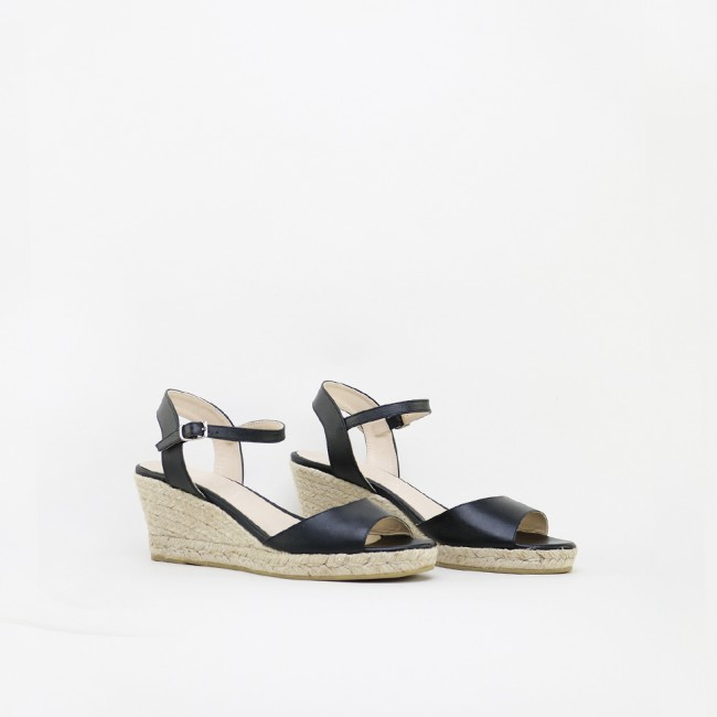 Wedge leather Espadrilles