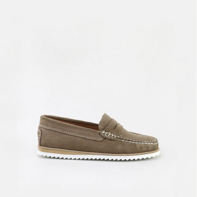 Soft split mocassins
