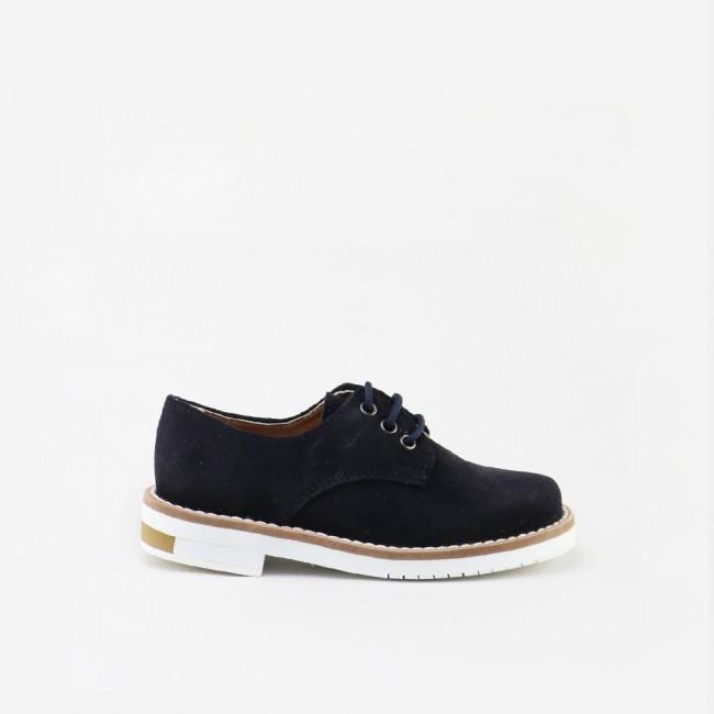Split leather derbie shoe