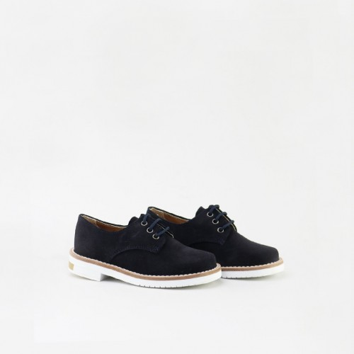 Split leather derbie shoe