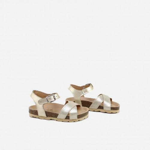 Gold Bow Bio Sandals