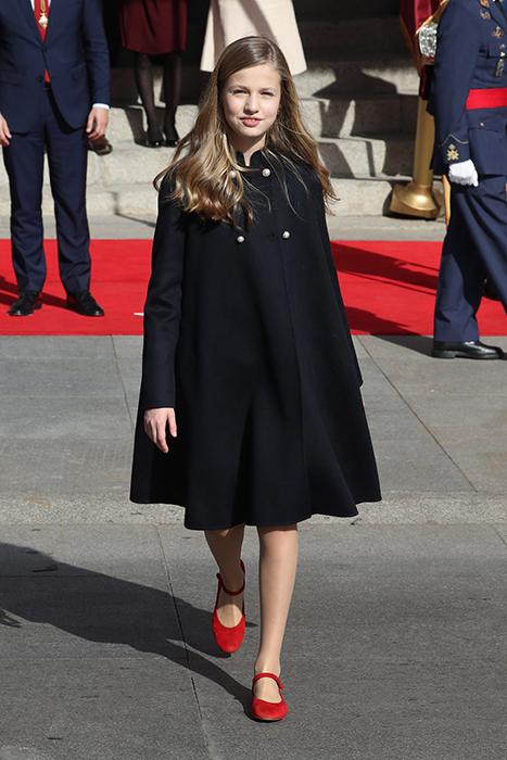 La princesa Leonor con merceditas de Papanatas para un día especial